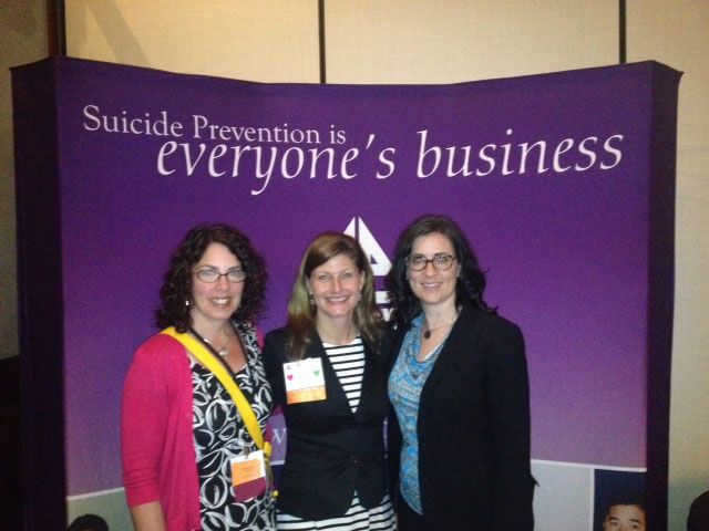 Jenn Ward (on the right) with Tana Nash and Pat Doyle from CMHA PEI at the American Association for Suicidology conference in LA, April 2014